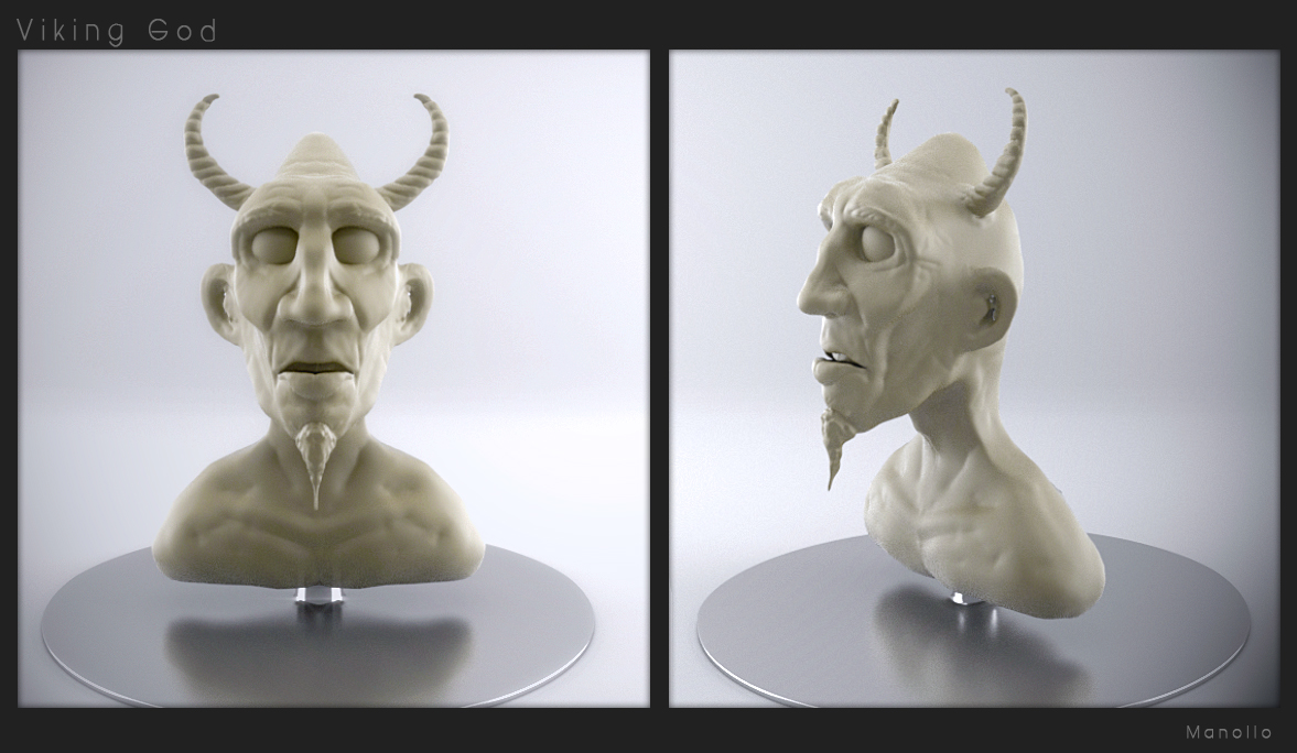 Viking-god-sculpt